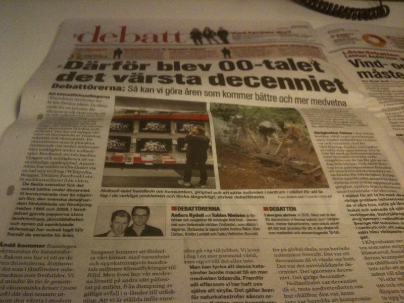 Noll Noll - debattartikel i Aftonbladet